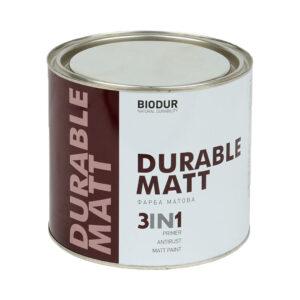 Краска для металла с матовым эффектом Biodur 3 в 1, 2.1 л белая 210