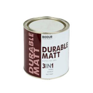 Краска для металла с матовым эффектом Biodur 3 в 1, 0.7 л белая 210