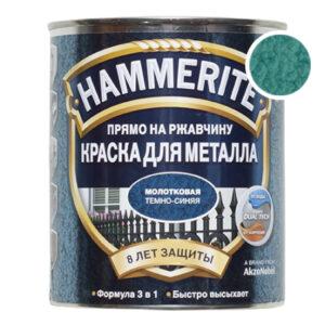 Hammerite молотковая зеленая, 0.75 л