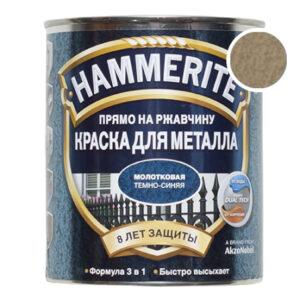Hammerite молотковая золотая, 2.5 л