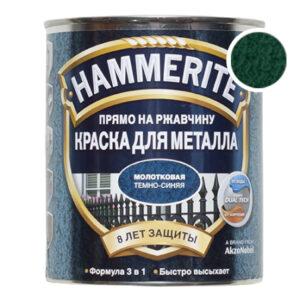 Hammerite молотковая темно-зеленая, 0.75 л