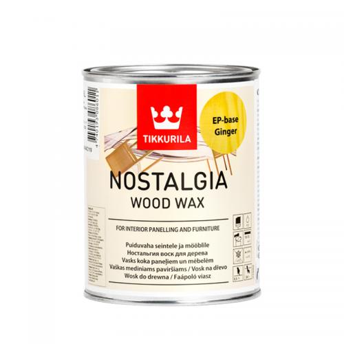 Tikkurila Nostalgia (Тиккурила Ностальгия) Воск для дерева Изюм, 1 л