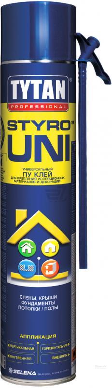 Ручная клей пена Tytan Styro Uni, 750 мл
