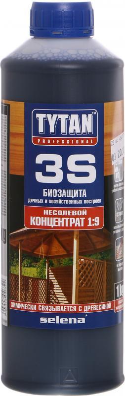 Биозащита для дачной и садовой древесины Tytan 3S  концентрат 1:9, 1 кг