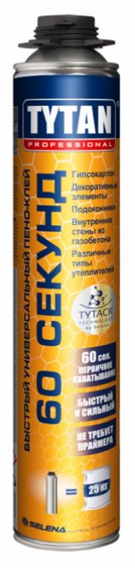 Профессиональная клей пена Tytan Professional 60 секунд, 750 мл