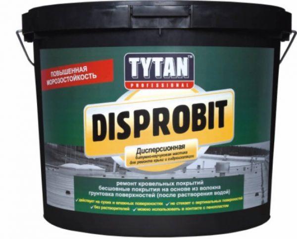 Мастика для легкой гидроизоляции битумно-каучуковая  Tytan  Disprobit , 20 кг