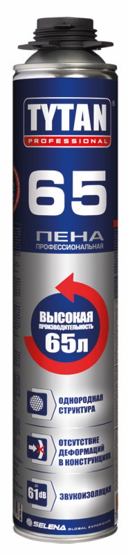 Профессиональная летняя монтажная пена Tytan Professional 65, 750 мл