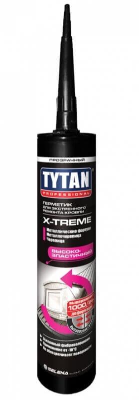 Герметик для экстренного ремонта Кровли X-treme Tytan, бесцветный 310 мл