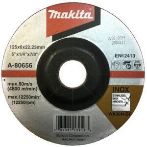 Зачисной диск по нержавеющей стали Makita 125 мм 36N (A-80656)