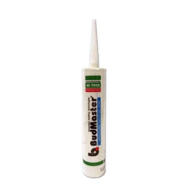 Герметик силиконовый санитарный белый BudMaster 280 ml