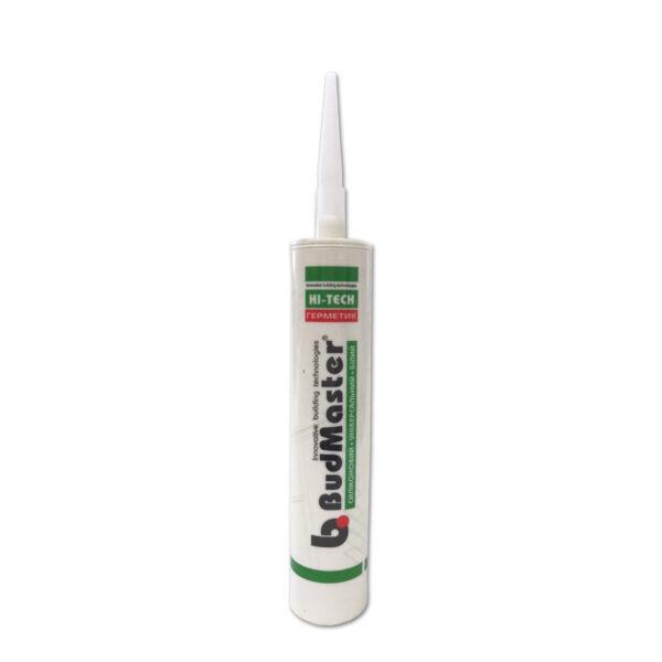 Герметик силиконовый универсальный белый BudMaster 280 ml