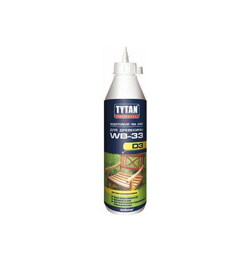TYTAN PROFESSIONAL WB-33 Водостойкий ПВА клей D3 для древесины 500мл.