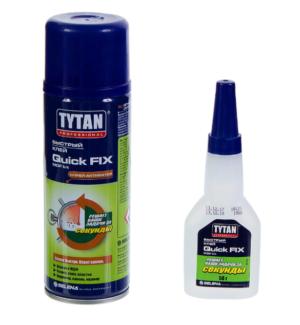 Клей Tytan цианакрилат двухкомпонентный 400 мл +100мл.