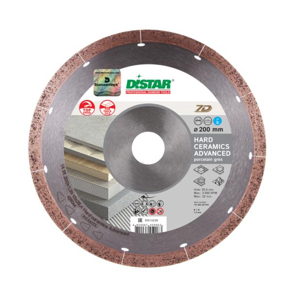 Круг алмазный отрезной по керамограниту Distar 1A1R 250×1,5x10x25,4 Hard ceramics Advanсed