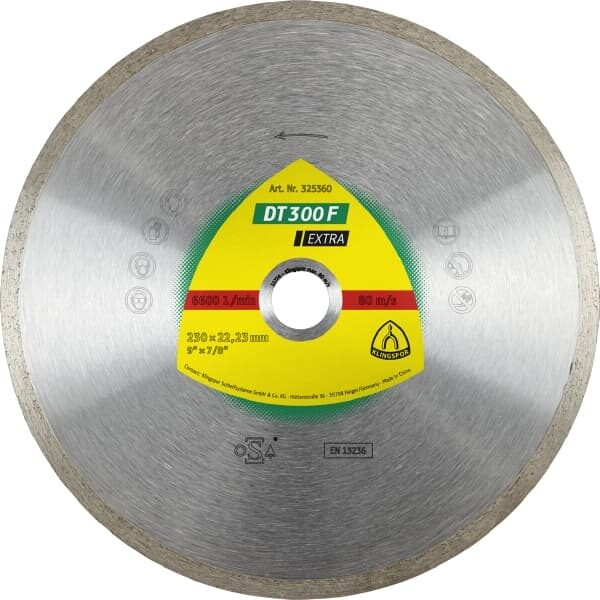 Алмазный круг  DT 300 F Extra 125×1.6×22.23 mm 1.6x7mm