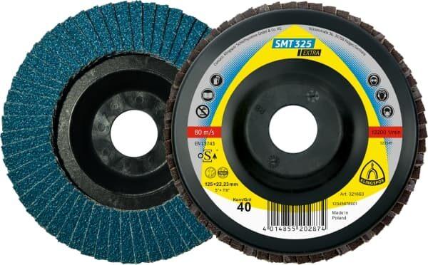Лепестковый тарельчатый круг Klingspor SMT 325 125X22,23 P60 прямой