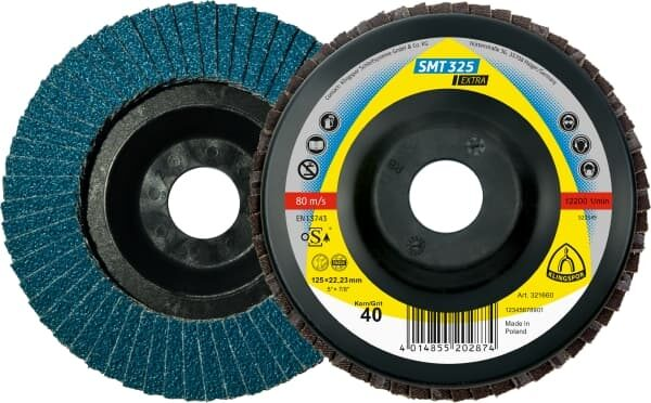 Лепестковый тарельчатый круг Klingspor SMT 325 125X22,23 P40 выпуклый