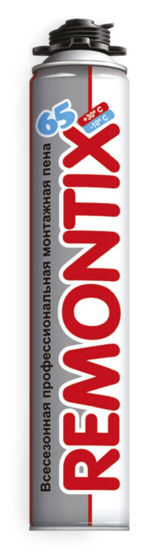 Полиуретановая монтажная пена REMONTIX PRO 65 825ml All Season