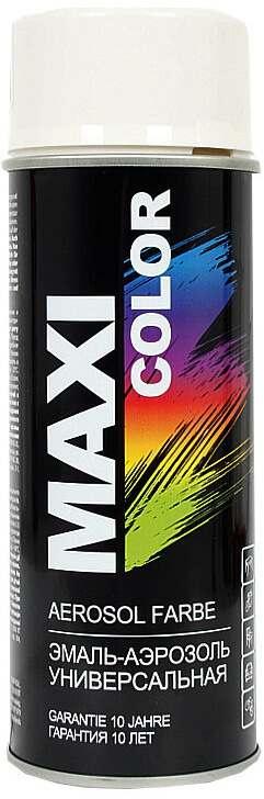 Универсальная аэрозольная эмаль Maxi Color 400 мл, Белая глянцевая RAL 9010