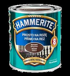 Hammerite матовая  коричневая, 2.5 л