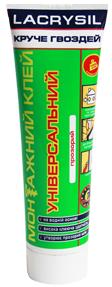 Клей монтажный универсальный акриловый 'Круче гвоздей' прозрачный LACRYSIL,  0.15 кг