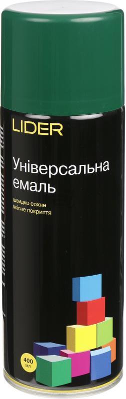 Универсальная эмаль Lider 400 мл, темно-зеленая №6005