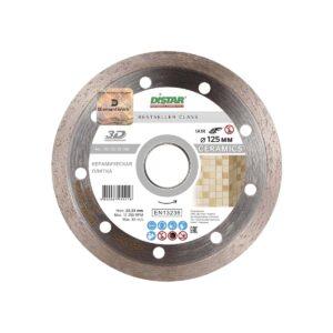 Круг алмазный отрезной Distar 1A1R 125×1,5x8x22,23 Bestseller Ceramics