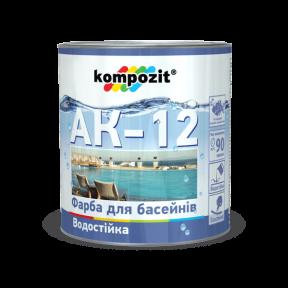 Краска для бассейнов АК-12 Kompozit голубая, 10 кг
