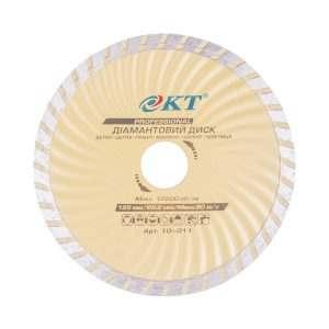 Алмазный диск KT PROFI 125 22,2, Турбоволна