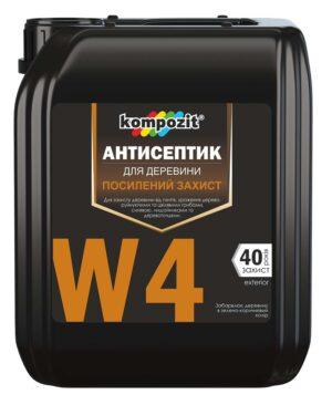 Антисептик для усиленной защиты W4 Kompozit, 10 л