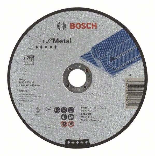 Отрезной круг Bosch Best по металлу 180×2,5, прямой, 2608603528