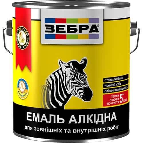 Алкидная эмаль ПФ-116 Зебра, чёрная, 0.9 кг