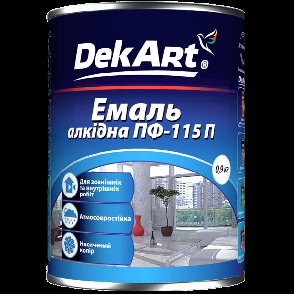 Эмаль ПФ 115 DekArt черная, 0.9 кг