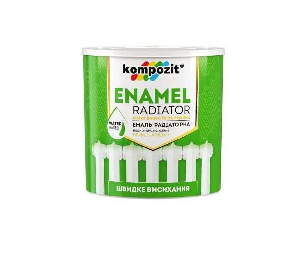 Эмаль акриловая радиаторная Kompozit белая матовая, 0.3 л