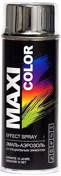 Декоративная аэрозольная эмаль Maxi Color 400 мл, Хром серебро