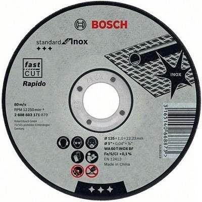 Отрезной круг Bosch Standard по нержавейке 115х1.6мм SfI, прямой, 2608603170