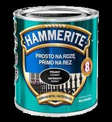 Hammerite полуматовая  черная, 0.75 л