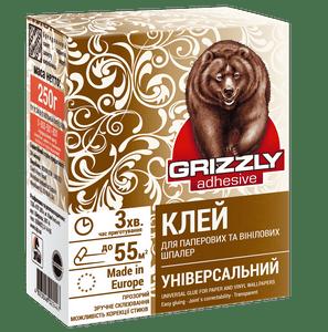 Клей для бумажных и виниловых обоев(универсальный) Grizzly, 0.25 кг