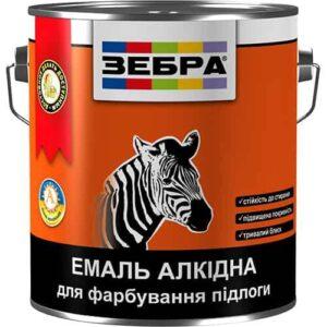 Алкидная эмаль для пола ПФ-266 Зебра, желто-коричневая, 0.9 кг