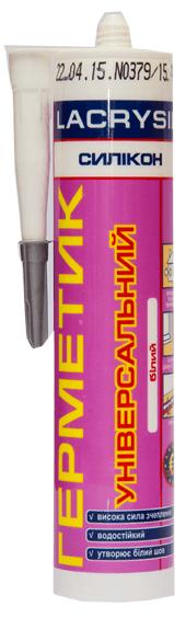 Герметик силиконовый универсальный белый LACRYSIL, 280 мл