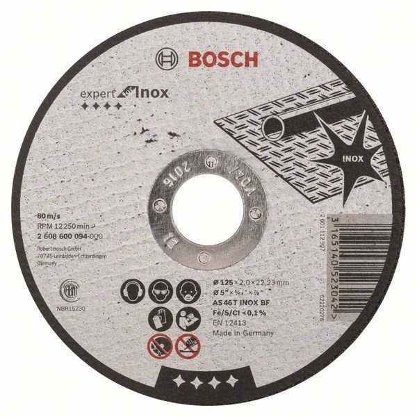Отрезной круг Bosch 3-В-1 125х2.5х22.23 мм, 2608602389