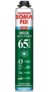 Профессиональная монтажная пена Soma Fix Mega 65 Plus зимняя, 850 мл