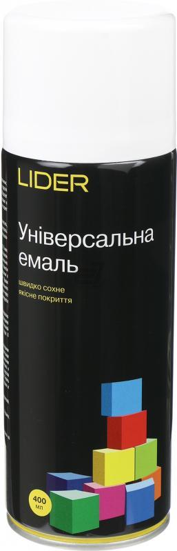 Универсальная эмаль Lider 400 мл, белая глянцевая №9010