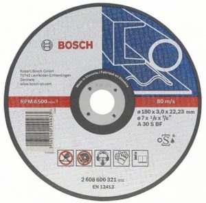 Отрезной круг Bosch металл 115х1.6 мм, 2608600214