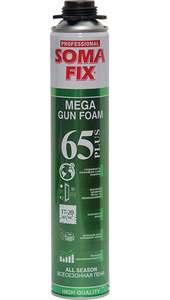 Профессиональная монтажная пена Soma Fix Mega 65 Plus всесезонная, 850 мл