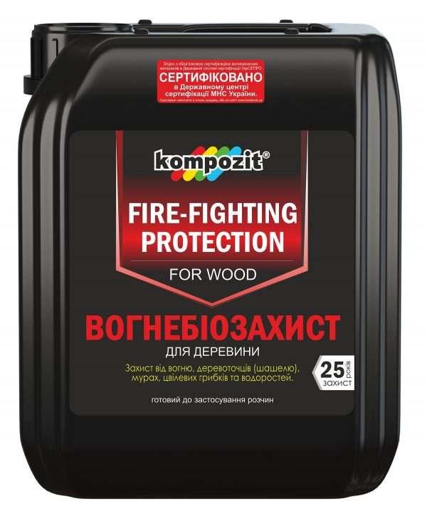 Огнебиозащита для древесины Kompozit бесцветный, 5 л