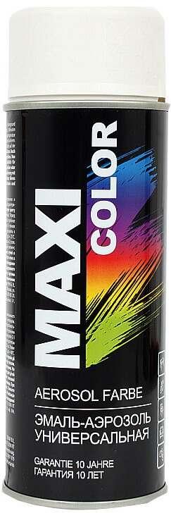 Универсальная аэрозольная эмаль Maxi Color 400 мл, Белая матовая RAL 9010