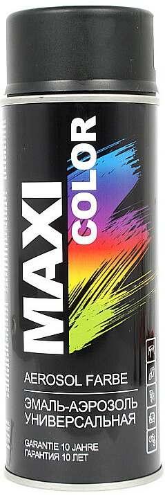 Универсальная аэрозольная эмаль Maxi Color 400 мл, Черная матовая RAL 9005