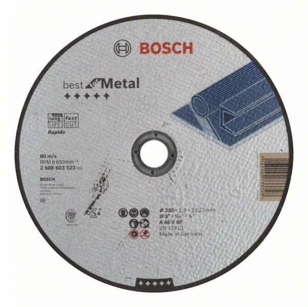 Отрезной круг Bosch Best по металлу 230×1,9, прямой, 2608603522
