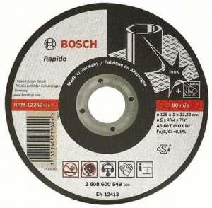 Отрезной круг Bosch Inox 115×1 мм, 2608600545
